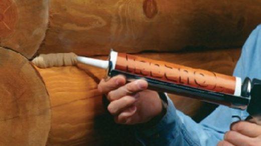 Герметик для трещин в брусе