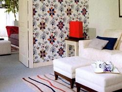 фото Декор стен тканью