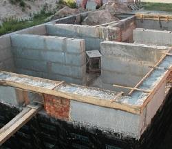 фото Этапы строительства фундамента