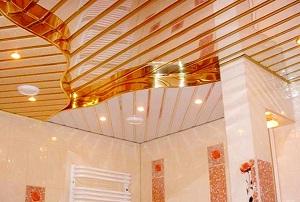 Реечный потолок для ванной фото