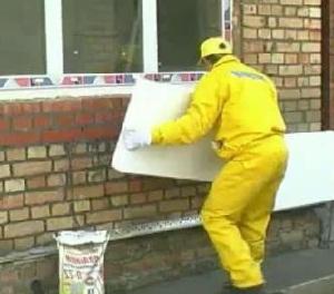 фото Утепление стен снаружи пенопластом