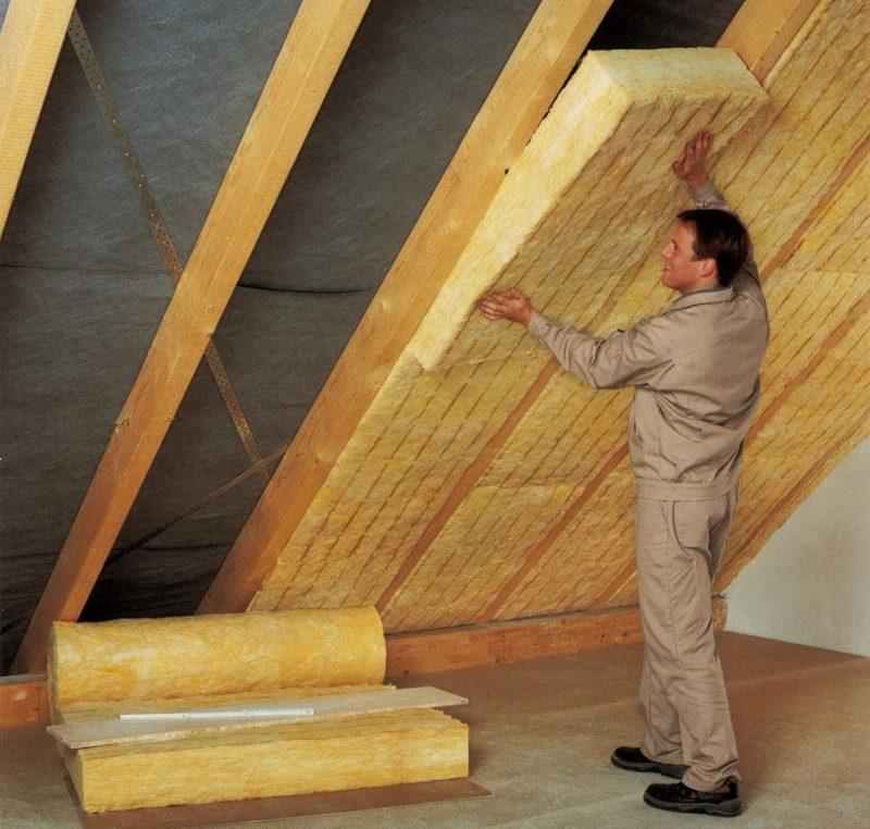 Теплоизоляция скатной крыши