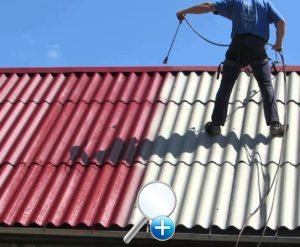 Окраска крыши из шифера