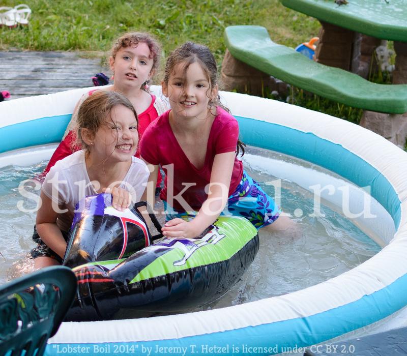 Бассейны для дачи надувные детские - недорого и очень практично