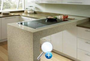 Барная стойка из искусственного камня для кухни