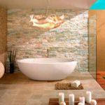 Искусственный камень для ванной комнаты: правила оформления
