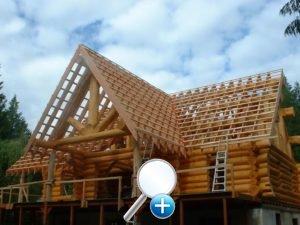 Устройство бревенчатой крыши дома