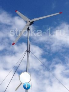 Если сделать мачту ветряка очень высокую, то при сильном ветре ветрогенератор будет сильно раскачивать в стороны