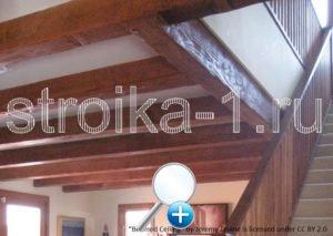 Балки можно очень хорошо вписать в общий стиль жилища, на любом этаже